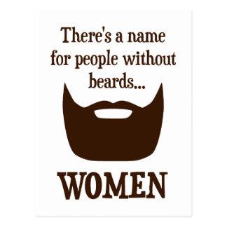 Il y a un nom pour des personnes sans barbes… carte postale