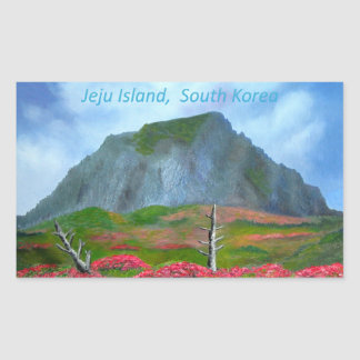 Île Corée (제주도) de Jeju Sticker Rectangulaire