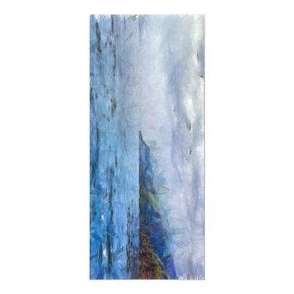 Île dans distance.jpg carton d'invitation  10,16 cm x 23,49 cm