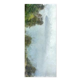Île dans la distance floue carton d'invitation  10,16 cm x 23,49 cm