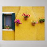 Île de Burano, Burano, Italie. Burano coloré 3 Poster
