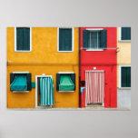 Île de Burano, Venise Affiche