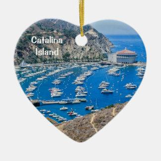 Île de Catalina Ornement Cœur En Céramique