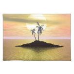 Île de coucher du soleil set de table