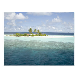 Île de Dhiggiri, atoll du sud d'Ari, Maldives, Carte Postale