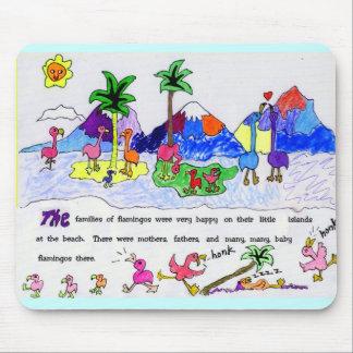 Île de flamant tapis de souris