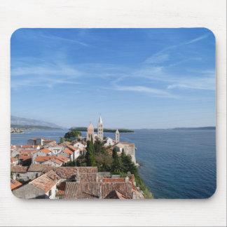 Île de la Croatie, de Rab et ville Tapis De Souris