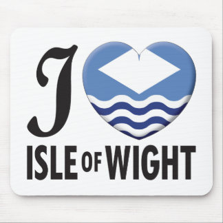 Île de l'amour de Wight Tapis De Souris