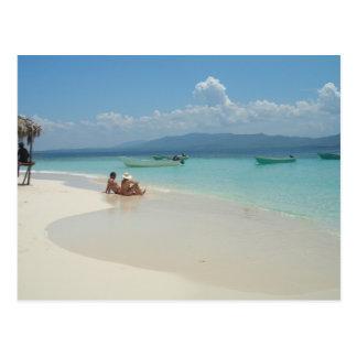 Île de paradis carte postale