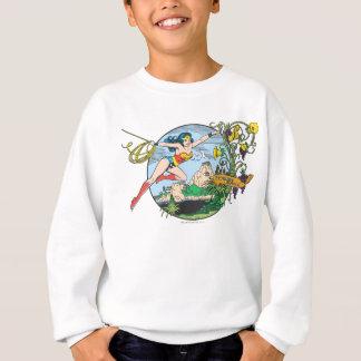 Île de paradis de femme de merveille sweatshirt