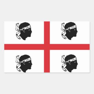 île de région de l Italie de drapeau de la Sardaig Autocollant En Rectangle