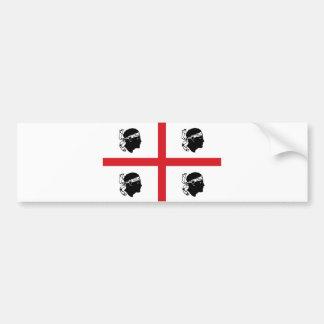 île de région de l'Italie de drapeau de la Sardaig Autocollant De Voiture