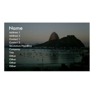 Île de Rio de Janeiro Modèle De Carte De Visite