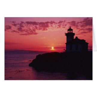 Île de San Juan, phare de four à chaux Carte De Vœux