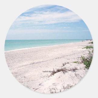 Île de Sanibel, la Floride Sticker Rond