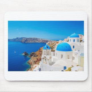 Île de Santorini - caldeira, Grèce Tapis De Souris