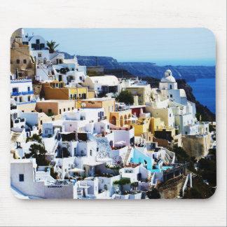 Île de Santorini en PHOTO de la Grèce Tapis De Souris
