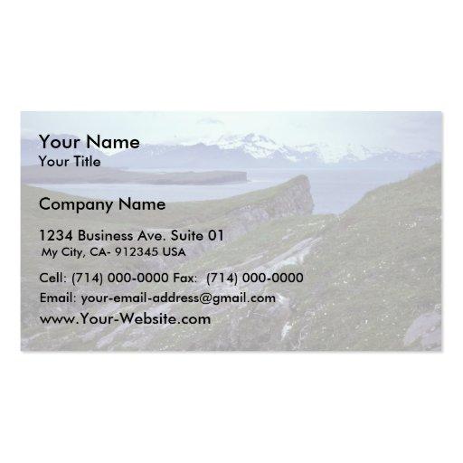 Île de terrasse, baie large modèles de cartes de visite