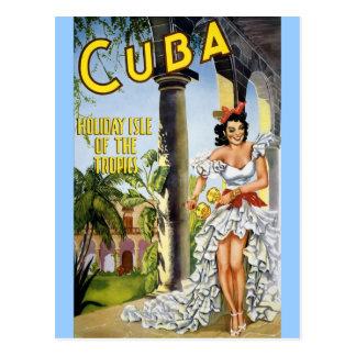 ÎLE DE VACANCES DU CUBA DES TROPIQUES CARTES POSTALES