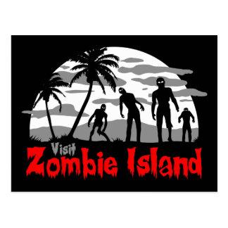 Île de zombi de visite carte postale