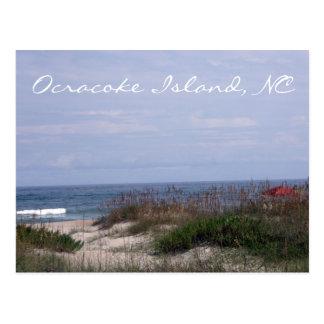 Île d'Ocracoke, carte postale d'OR