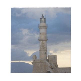 Île grecque de Crète et de vieille ville de Chania Blocs Notes
