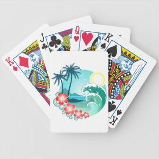 Île hawaïenne 2 cartes à jouer