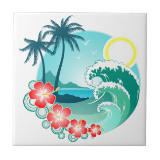 Île hawaïenne 2 petit carreau carré