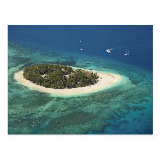 Île-hôtel de vague déferlante, Fidji Cartes Postales