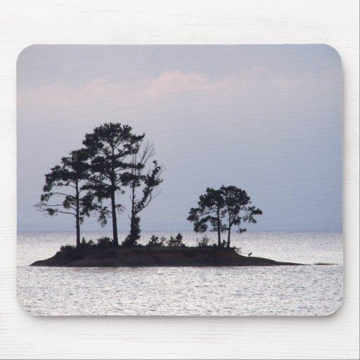 Île reculée Mousepad Tapis De Souris