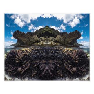 île sous l'art de mur d'impression de photo de