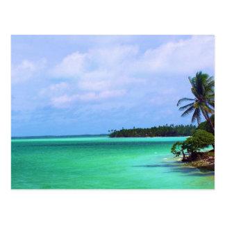 Île tropicale carte postale