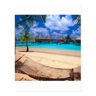 Île tropicale de Polynésie française Carte Postale
