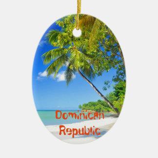 Île tropicale en République Dominicaine Ornement Ovale En Céramique