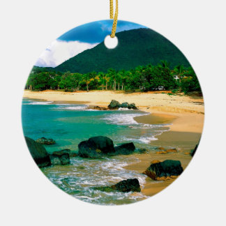 Île tropicale les rivages St Martin Ornement Rond En Céramique