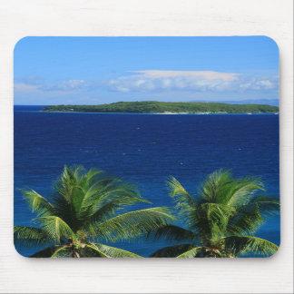Île tropicale Mousepad Tapis De Souris