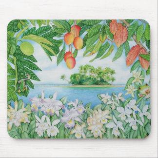 Île tropicale tapis de souris