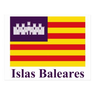 Îles Baléares diminuent avec le nom Carte Postale