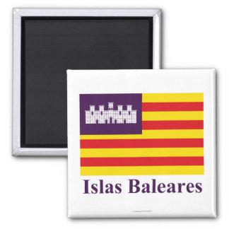 Îles Baléares diminuent avec le nom Aimants Pour Réfrigérateur