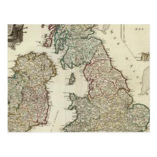Îles britanniques 4 cartes postales