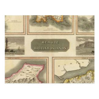 Îles britanniques à distance carte postale