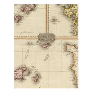 Îles britanniques à distance Jersey et Guernesey Cartes Postales