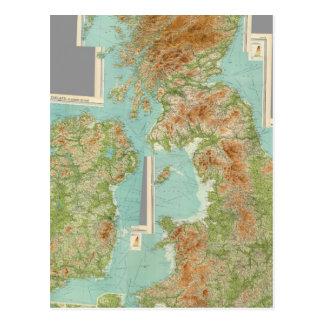 Îles britanniques composées carte postale