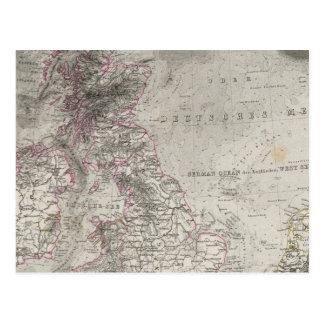 Îles britanniques et mer environnante carte postale