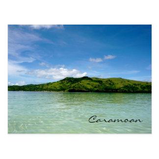 Îles de Caramoan - vue de banc de sable de Manlawi Cartes Postales