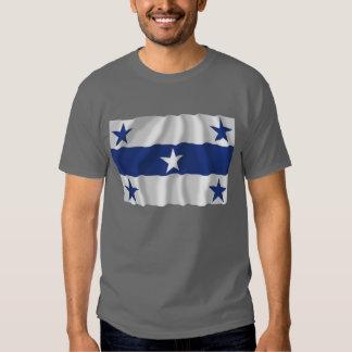 Îles de Gambier ondulant le drapeau T-shirt