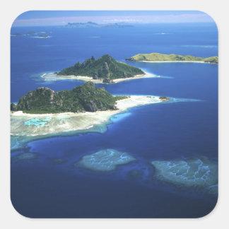 Îles de Monuriki, de Monu et de Yanuya, Mamanuca Sticker Carré