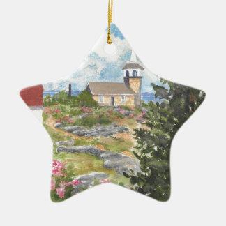Îles d'île d'étoile d'ornement d'étoile des bancs ornement étoile en céramique