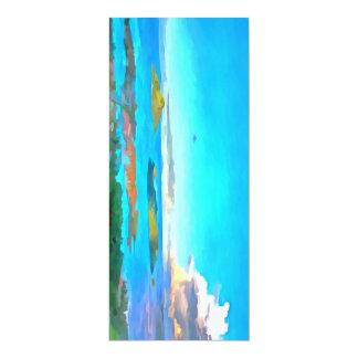 Îles et mer carton d'invitation  10,16 cm x 23,49 cm