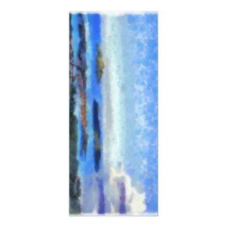 Îles et paysage carton d'invitation  10,16 cm x 23,49 cm
